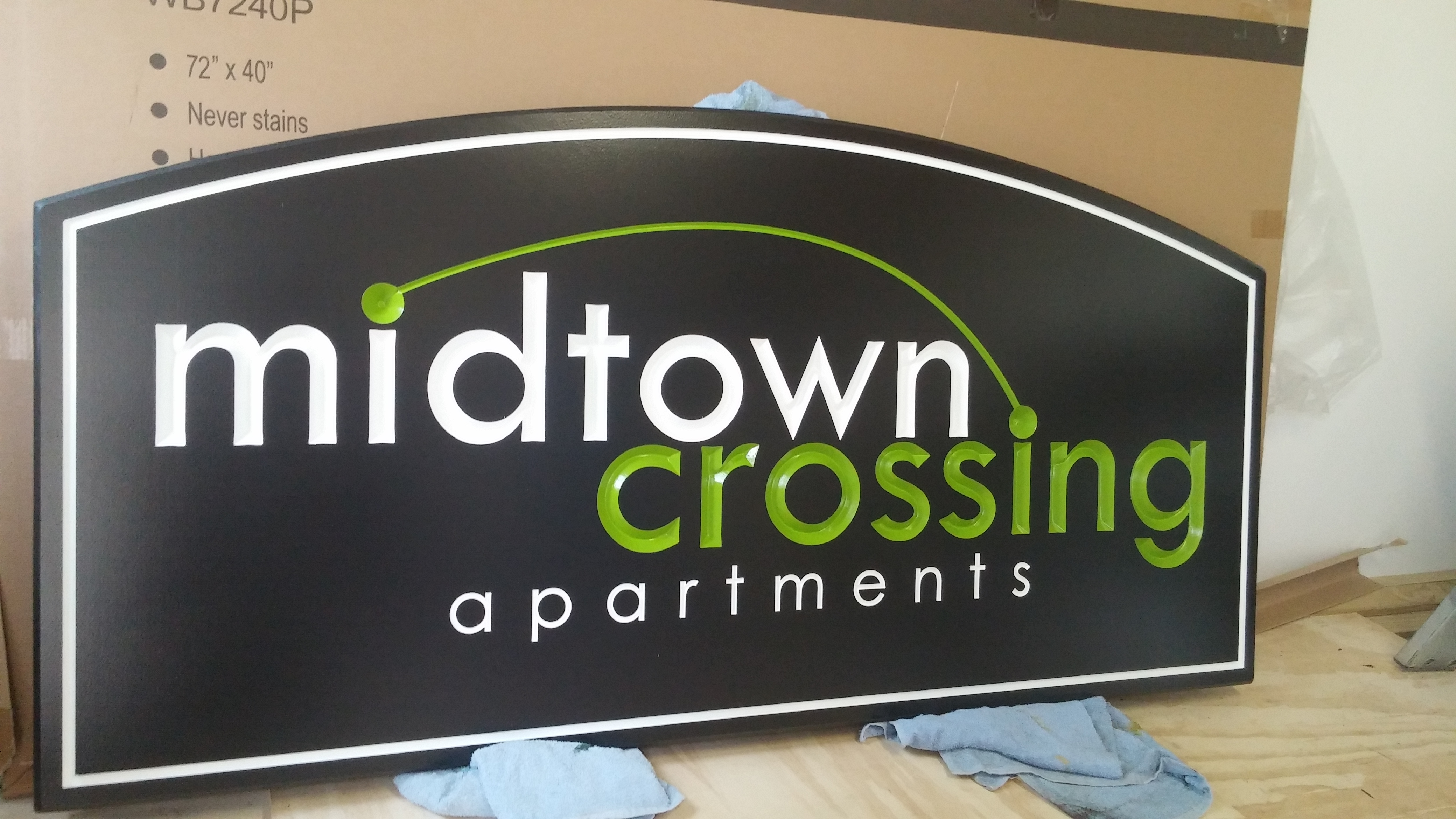 Midtown Crossing Apartments Sign By JD Sign Co