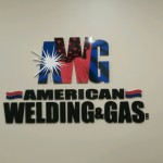 American Welding and Gas sign by JD Sign Co