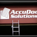 AccuDoc Solutions sign by JD Sign Co