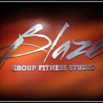 Blaze Group Fitness Studio sign by JD Sign Co