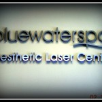 Blue Water Spa sign by JD Sign Co