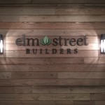 Elm Street Builders sign letters by JD Sign Company