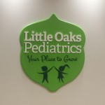 Little Oaks Pediatric sign in Raleigh NC custom 3D Dimensional sign by JD Sign Company