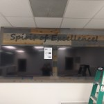 Spirit of Excellence dimensional 3d lettering by JD Sign Co