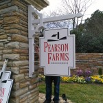 Pearson Farms residential development blade sign by JD Sign Company