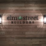 Elm Street Builders dimensional letters by JD Sign Company