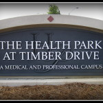 Health Park at Timber Driver custom v-carved sandblasted sign by JD Sign Company