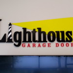 Lighthouse Garage Doors dimensional letters by JD Sign Company