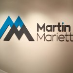 Martin Marietta dimensional letters lobby sign by JD Sign Company